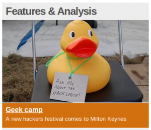 Ein the Duck on the BBC News Technology site