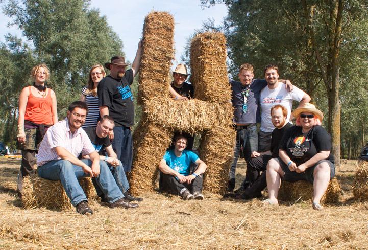 Nottingham Hackspace members at EMF Camp