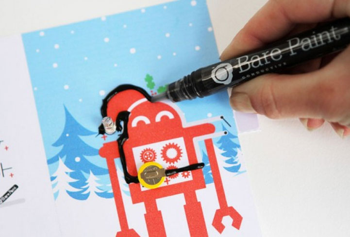 Bare Conductive Light-Up Christmas Card