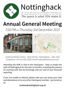 Flyer for the Annual General Meeting