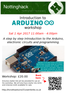 Introduction to Arduino Workshop Flyer